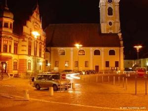 Stadt Hartberg Hauptplatz, Rathaus, Stadtpfarrkirche
